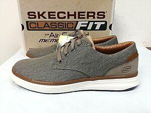 Skechers Men's Ederson Classic Fit Memory Foam Sneakers 11, 12, 13 Taupe - 0W_16