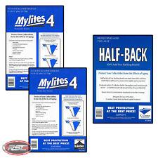 100 - E. GERBER HALF-BACK & MYLITES 4 GOLDEN AGE Mylar Bags & Boards 758HB/800M4
