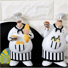 2 Adorable Cooking Fat Chef Wall Art Hanging Sign Decorative Kitchen Wall Sign