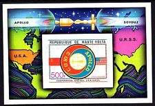 Upper Volta / Burkina Faso - 1975 Space / Apollo-Sojuz - Mi. Bl. 36 imperf MNH