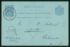 Mayfairstamps Netherlands 1896 Zochfr and Co Haarlem Postcard wwr_08697