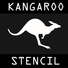 Australian Kangaroo Stencil - A4 Size - Reusable PET Polymer Custom Tactical
