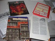TSR DUNGEONS & DRAGONS Basic Set #1 rulebook cards map DM screen 1991