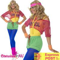 80s Physical Girl Neon 1980s Workout Sport Aerobics Ladies Olivia Newton Costume