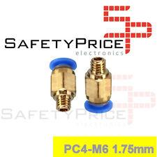 PC4-M6 conector neumático acoplador PTFE push fit Impresora 3d Reprap  Racor