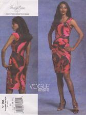 VOGUE AMERICAN DESIGNER  Front-Drape Special Occasion Dress Pattern Sz14-20