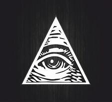 Sticker decal art wall car moto biker illuminati pyramid eye of providence see