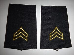 Paire De États-Unis Armée Sergent Rang Petit Épaule Badges Épaulettes