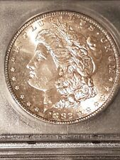 1882-S Morgan Silver Dollar ICG Graded MS66+ . Gorgeous light toning and shine.