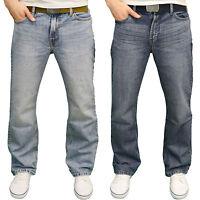 FB Jeans Men's Designer Regular Fit Boot Cut Jeans w/Free Belt, BNWT