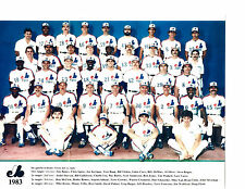 1983 MONTREAL EXPOS 8X10 TEAM PHOTO BASEBALL CANADA RAINES CARTER DAWSON REARDON