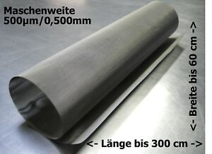 Stainless Steel Wire Mesh For Drum Filter Curved Screen Etc 0,500mm 500µm up To