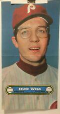 """New listing 1972 TOPPS  BASEBALL POSTER  # 14  RICK WISE   Philadelphia Phillies   10"""" X 18"""""""
