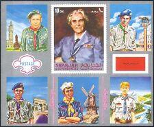 Sharjah 1971 Scouts/Scouting/Uniforms/Jamboree imperf silver m/s (n18273)