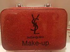 YSL YVES SAINT LAURENT MAKE-UP RED GLITTERY TRAVEL BAG new