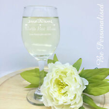 Personalised Mothers Day Wine Glass 250ml Engraved Glass Gift Present Mum Nan
