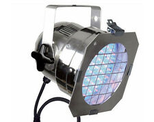 Showtec LED Par 56 RGB da discoteca DJ possibile Illuminazione Lampade Cromato Argento 42422