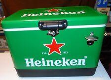 BRAND NEW 54 QT Stainless Steel W/ Bottle Opener Green Heineken Party Cooler