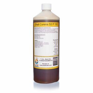 1L Shell Corena S2 P 100 VDL Reciprocating/Piston Air Compressor Oil