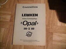 Ersatzteilliste Lemken Volldrehpflüge Opal 180-X 180