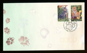 1996 Australia Self-Ahesive Pets FDC. Canberra first day cover. Cat, Dog