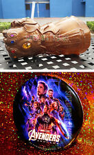 THANOS INFINITY GAUNTLET GLOVE CUP & AVENGERS ENDGAME PROMO BUTTON Disney Parks
