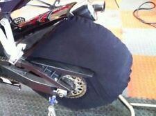 Mantas De Polar Mediano Negro Neumático cubre calentadores de neumáticos