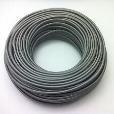 50m Design Textilkabel, 3x0,75 Silber, Top EU Qualität, Stoffkabel Sonderangebot