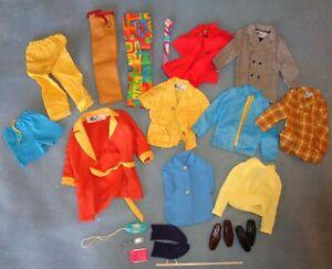 "Vintage Mattel 1960s-70s Ken 12"" Doll Clothing Lot! Nice!"