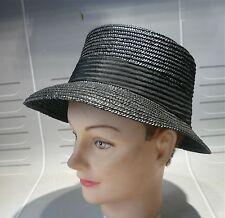 """Chapeau """"de paille"""" noir vintage…"""