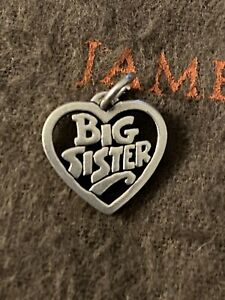 James Avery Big Sister Heart Charm Sterling Silver