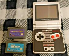 Nintendo GameBoy Game Boy Advance SP AGS-001 NES Edition + 2 Games & Charger