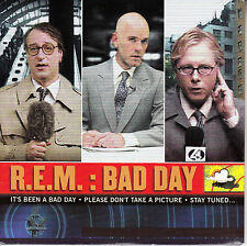 "R.E.M. (REM)  Bad Day PICTURE SLEEVE 7"" 45 rpm record + juke box strip BRAND NEW"