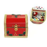 1:12 Miniature christmas box gift dollhouse diy doll house decor accessories DD