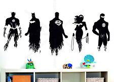 Justice League Batman Superman Flash Bedroom Wall Art Stickers Decals Vinyl