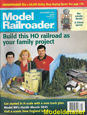 Model Railroader Dec.1997 Eureka Locomotive Rutland Addison BN SD45 Hoosier Line