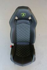 Lamborghini Aventador S LP740 2019 Black Leather Green Stitch Seat LHS J158