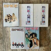 RETRO Music Audio Cassette Tape Bundle Spice Girls Singles x 5 1996, 1997