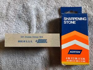 1977 Vintage Norton SB-4 Soft Arkansas 4 x 2 x 3/4 Bench Stone NICE!