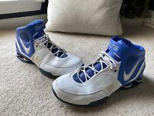 Nike Shox Elite TB, 314184-113, Blue White, Mens Basketball Shoes, Size 15