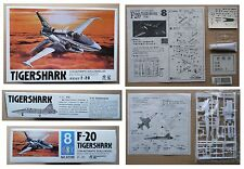 F-20 TIGERSHARK Jet Fighter NORTHROP F20 model kit modellismo vintage Lee 1/144