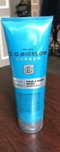Bath & Body Works CO Bigelow BARBER ELIXIR BLUE Hair Body Wash Soap SEALED