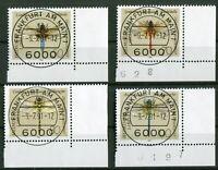 Bund 1545 + 1550 - 1552 gestempelt Eckrand Vollstempel ESST Frankfurt ER Ecke 4