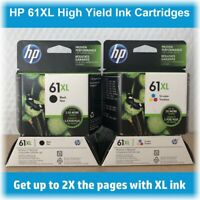 HP 61XL High-Yield Single Ink Cartridge (Black or Tri-Color) in Retail Box !!!