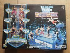 Vintage 1997 WWF Jakks Pacific Wrestlemania Action Ring Wrestling Figures New