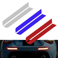 1 Pair Reflective Tape Warning Strip Car Bumper Reflector Decals Stickers Safety