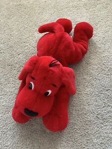 Vintage Scholastic Clifford The Big Red Dog Stuffed Plush Toy Cute!