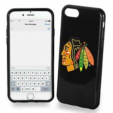 For iPhone 7 PLUS Large Model Chicago Blackhawks TPU Soft Gel Protective Case