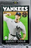 2021 Topps Gerrit Cole 1986 Black Parallel 153/299 New York Yankees Great Card!