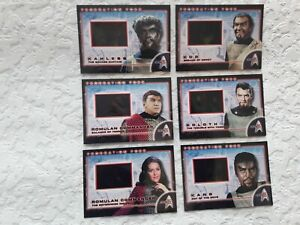 Star Trek 35th Anniversary Federation Foes FF1-6 Chase Trading Cards